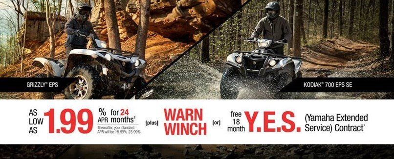Yamaha - Current Offers - Utility ATV - 1.99% APR